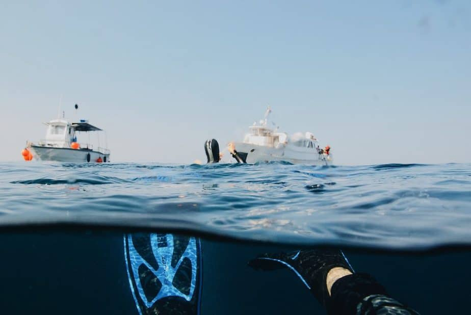 snorkeling by the boat