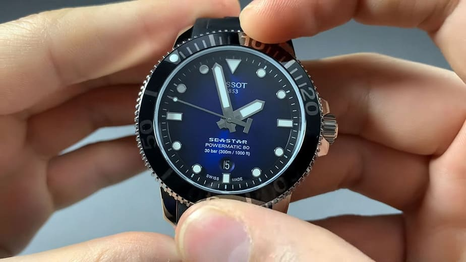 tissot seastar rotating the bezel
